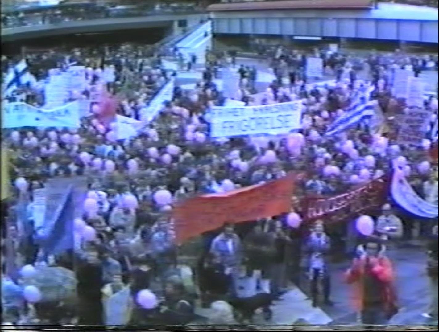 Frigörelsedemonstrationer i Stockholm, 1981-1989